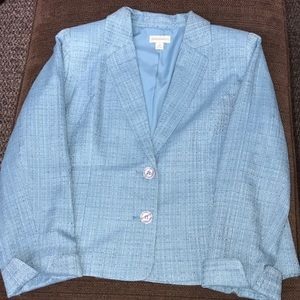 Appleseed's lined blazer. Lined. Blue tweed